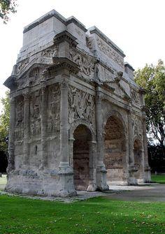 Roman arch, Orange, Vaucluse, France.