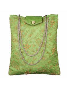 Bolsos de noche para mujer accesorios verano bolsa bordada acolchada seda verde: Amazon.es: Zapatos y complementos