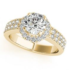 GEORGIA ENGAGEMENT RING in 14K Yellow Gold - Price: ₹38,884.00. Buy now at http://www.solitairehouse.com/georgia-engagement-ring-in-14k-yellow-gold.html