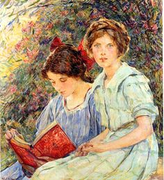 Robert Reid (1862 – 1929)   Girls reading