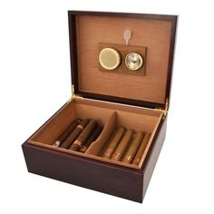 Cherry Wood Humidor by Viski -- To view further for this item, visit the image link.