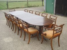 Triple Pedestal Dining Table To Seat 12 To 14 PeopleMeasures 132 inches long by 42 inches wide. 12 to14 people!