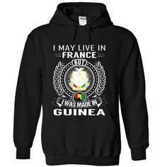 I May Live in France But I Was Made in Guinea - #tshirt men #tshirt headband. PURCHASE NOW => https://www.sunfrog.com/States/I-May-Live-in-France-But-I-Was-Made-in-Guinea-esnabjozmg-Black-Hoodie.html?68278
