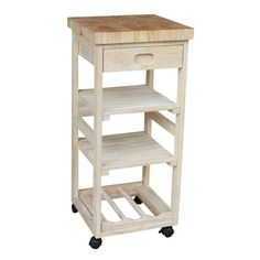 Shop for Unfinished Solid Parawood Kitchen Trolley. Get free shipping at Overstock.com - Your Online Kitchen