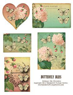 Butterfly Printable - Ephemera's Vintage Garden