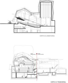 Chacao Municipal Theater Gallery / ODA – 29 – – section Chacao Municip… Chacao Municipal Theatre Gallery / ODA – 29 – – Abschnitt Chacao Municipal Theatre Gallery / ODA – 29 Cultural Architecture, Amphitheater Architecture, Auditorium Architecture, Theatre Architecture, Auditorium Design, Sacred Architecture, Architecture Plan, Theater Plan, Floor Plan Drawing