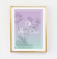 Oh Mon Dieu Poster Wall Decor Minimal Art Nature by LovelyPosters