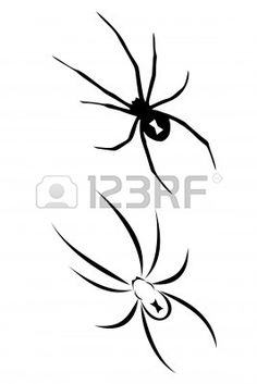 A Black Widow Spider Tribal Tattoo. Royalty Free Photos, Pictures, Images and Stock Photography