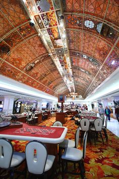 The stained glass ceiling at Tropicana Las Vegas.
