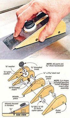 Plane Iron Sharpening Jig - Sharpening Tips, Jigs and Techniques | WoodArchivist.com