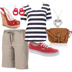 A fashion look from March 2012 featuring tee-shirt, short shorts and beach sandals. Browse and shop related looks. Cool Outfits, Summer Outfits, Tee Shirts, Tees, Khaki Shorts, What To Wear, Remedies, Fashion Looks, My Style