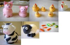 These are the fondant animals that I made for my...