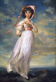 Pinkie by Thomas Lawrence....my Grandma had a picture of Pinkie and one of Blue Boy.  Pinkie was the reason I fell in love with the gauzy white dresses and pink sashes of the Regency era in the first place!
