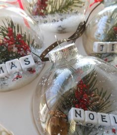 DIY Vintage Christmas Ornaments  use with branch snowflake ornaments and it's a vintage wonderland!!