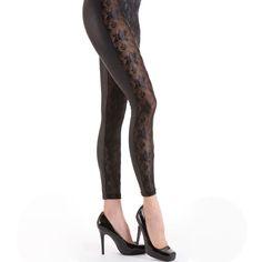 Lace Reptile Leggings - Black - Medium, Large  | eBay