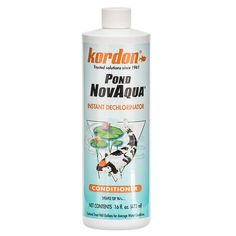 🐟 16oz Kordon Pond NovAqua is a unique and safe combination of chemical compounds that produce highly desirable effects in freshwater and marine systems. Provides a protective colloid coating on a fish's body when the natural slime has been removed due to i
