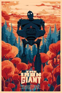 The Iron Giant screen print - Kilian Eng - Debut Art