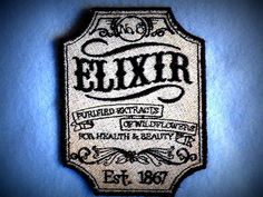Hey, I found this really awesome Etsy listing at http://www.etsy.com/listing/99638545/apothecary-elixir-no6-iron-on-patch