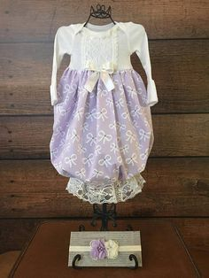 657b433ad Vintage floral baby girl gown