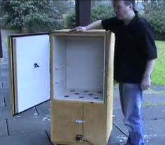 Completed Homemade Smoker - NO WELDING! Easy to follow plans!