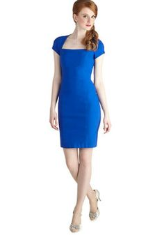 Sleek It Out Dress in Cobalt, #ModCloth