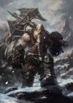 Dwarf barbarian