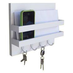 Organizador Home Gero Porta Chaves Trekos Branco - Abra Casa