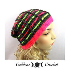 Pick out some fun colors from your stash to make a striped slouchy beanie for yourself or someone you love.