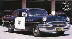 t1955 Buick Century two-door sedan – an authentic CHP car,