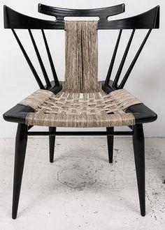Edmund Spence Woven Mid Century Modern Chair