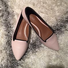 ALDO shoes The size may be a little bit smaller than 37, U.S. Size 6 may fit. Just wear once and pretty new! ALDO Shoes Flats & Loafers