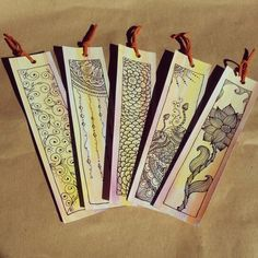 Zentangle on pinterest zentangle zentangle patterns and for Diy bookmarks for guys