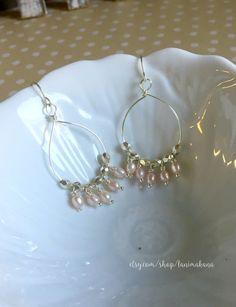Beaded Hoop Chandelier Earrings by LaniMakana on Etsy