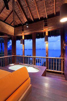 Ocean Panorama Pool Villa Bathroom at Six Senses Yao Noi, Thailand. http://www.sixsenses.com/resorts/yao-noi/accommodation/villas-and-suites