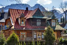Old Polish style log home with a modern twist in Zakopane, Poland.