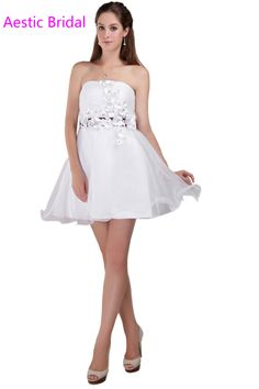 6642e2cef49 Graduation Dresses For 8th Grade White Short Strapless Homecoming Dress  With Purple Sash -in Homecoming Dresses from Weddings   Events on  Aliexpress.com ...