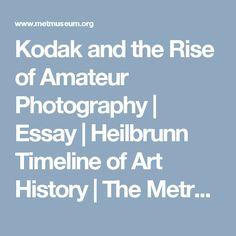 Kodak and the Rise of Amateur Photography | Essay | Heilbrunn Timeline of Art History | The Metropolitan Museum of Art