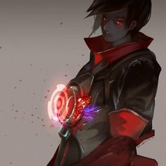 love the evil Tracer >:D (clothing original concept by under__nut ) 【follow me on twitter for fastest art update:twitter.com/BJMAKI】