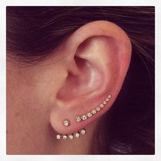 EF Collection multi bezel ear cuff paired with multi bezel ear jacket