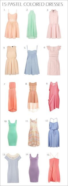 d2907bda7e5b2 16 Best Pastel Color dress images in 2014 | Dresses, Pastel color ...