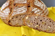 spelt bread with ayran, nuts & curry / dinkelbrot mit ayran, nüssen & curry