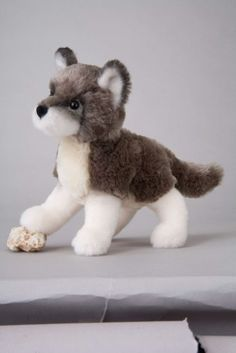 Stuffed Wolf Toy Plush. Quinn wants little wolves for Christmas, lol!