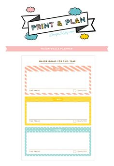 Printable Colourful Goals Journal (with freebie! Goals Planner, Blog Planner, Life Planner, Filofax, Printable Planner, Free Printables, Planners, Goal Journal, Blogging