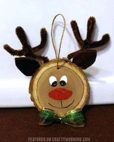 A Main Hobbies Chico Product Wooden Reindeer, Reindeer Craft, Reindeer Decorations, Reindeer Ornaments, Wood Ornaments, Ornament Crafts, Diy Christmas Ornaments, Christmas Decorations, Diy Christmas Reindeer
