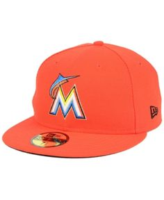 New Era Miami Marlins Authentic Collection 59FIFTY Fitted Cap - Orange 8 2797f70f5bbd