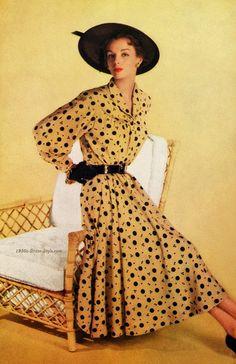 Vintage 1950s Dresses | Polka Dots