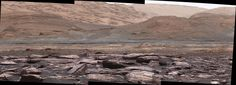 NASA's Mars Curiosity rover captured a remarkable photo of purple-colored rocks on lower Mount Sharp.