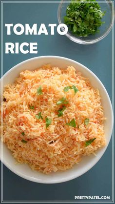 This tomato rice recipe simple and easy recipe for fluffy tomato rice. A vegan and gluten free recipe via Gujarati Recipes, Indian Food Recipes, Real Food Recipes, Cooking Recipes, Ethnic Recipes, Cooking Joy, Gujarati Food, Indian Foods, Budget Recipes