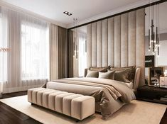 Awesome Luxury Modern Master Bedroom Design will Inspire You - home decor update Modern Luxury Bedroom, Master Bedroom Interior, Luxury Bedroom Design, Modern Master Bedroom, Bedroom Furniture Design, Home Room Design, Master Bedroom Design, Contemporary Bedroom, Luxurious Bedrooms