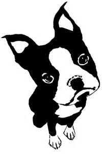 Black and White Drawings of Boston Terriers - Bing images